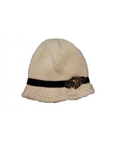Minimanó mogyoróbarna kötött kalap 50 cm
