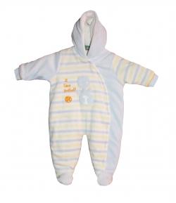 F.S.-Baby -Plüss dínó mintás, csíkos levegőztető