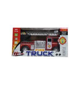 Hangot adó tűzoltó autó