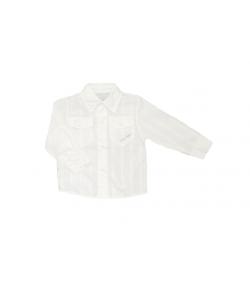 Green Apple- Fehér alapon , fehér csíkos alkalmi ing