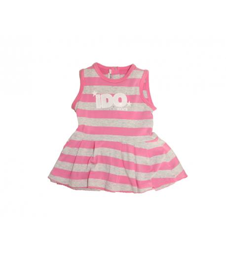 b86317c434 Szürke-rózsaszín csíkos ujjatlan ruha