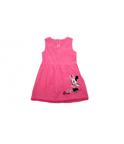 Pink színű microcord bársony kötényruha 98-as