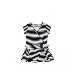Kék fehér csíkos pamut ruha 3 éves