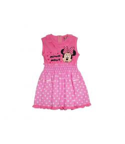 Minnie egeres ujjatlan rózsaszín ruha 86-os