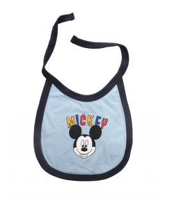 Disney Mickey megkötős pamut előke / színes mickey felirat/