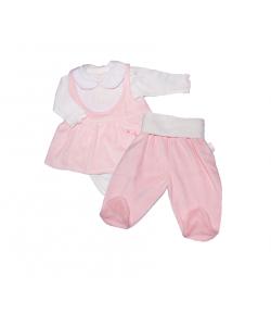 3 részes plüss rózsaszín kislány garnitúra 62-es
