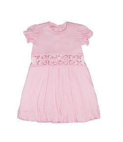 Rózsaszín pamut ruha 86-os