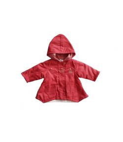 Pamut vászon bébi kislány kabát 62-es