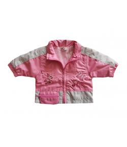 Sötét rózsaszín-szürke kislány dzseki 68--as