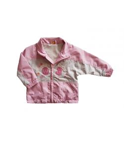 Világos rózsaszín-szürke kislány dzseki 92-es