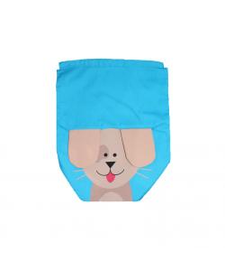 Kék, lógó fülű kutyamintás tornazsák