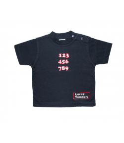 Sötétkék póló , piros-fehér hímzéssel 68-as