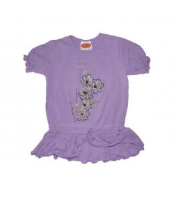 Brando2000- Lila színű hosszított kislány póló 98-as