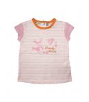 Yatsi- Fehér, rózsaszín csíkozással díszített kislány póló 18 hó