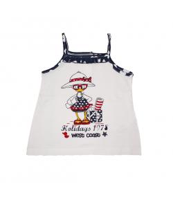 Mc baby - Fehér színű szívecske szegővel díszített spagetti pántos ruha