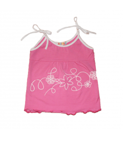 Pirinyó- Rózsaszín kislány atléta fehér szegővel díszített 86-os