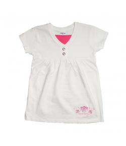 Boniface- Fehér rövid ujjú csinosított póló 116-os