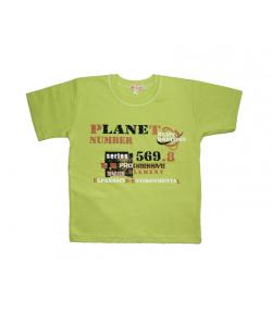Pirinyó- Banán zöld színű fiú póló 116-os