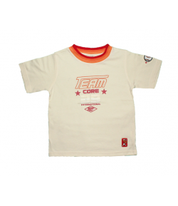 Yatsi- Krém színű póló, nyakán színátmenetes szegővel 4 év
