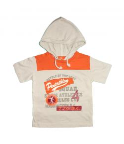 Mc baby- Mogyoró-narancs színű kapucnis póló 4 éves