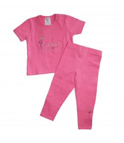 Boniface- Rózsaszín -rövid ujjú, kerek nyakú póló- nyári halásznadrággal