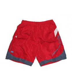 OPT Junior- Piros színű, szürke betéttel díszített bermuda 10-es 140 cm