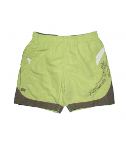 OPT Junior- Lime zöld színű, olaj zöld -fehér betéttel díszített bermuda 10-es 140 cm