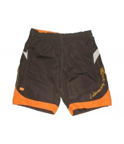 OPT Junior- Csoki barna színű - narancs -bézs betéttel díszített bermuda 16-es 172 cm