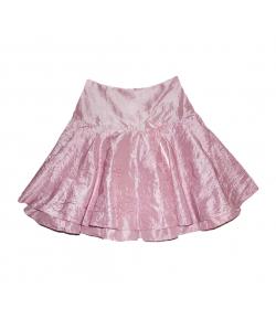 Zsil- Világos rózsaszín selyem, alkalmi szoknya 152-es