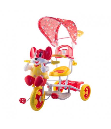 Egeres fedeles tricikli, piros