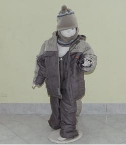 Gigi 2 részes fiú bélelt téli szett szürke 116-os méret