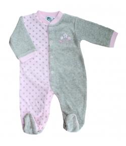 100f63300b F.S. Baby hosszú ujjú plüss lábfejes rugdalózó 62-es