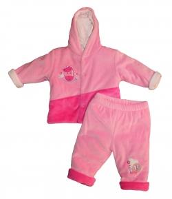 F.S. Baby háromrészes plüss együttes, - Rózsaszín lovacskás