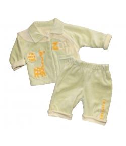 Mcbaby Baby háromrészes plüss együttes - világos zöld/krém