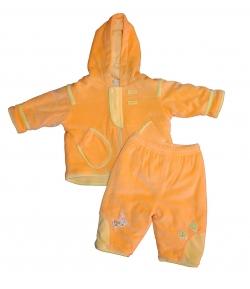 Yatsi Baby háromrészes plüss együttes - narancs 6m 74-es