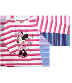 Disney Minnie hosszú ujjú csíkos póló 86-os