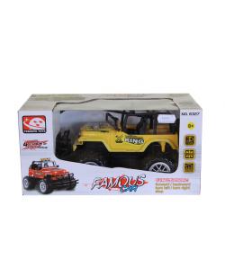 Távirányítással működő autó (sárga)