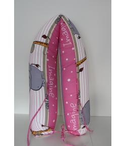 Király G. Szoptatós párna- Szafaris rózsaszín