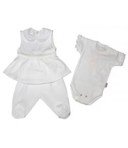 Trimex-3 részes kislány szett fehér
