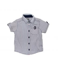 Mikka rövid ujjú kék-piros kockás ing