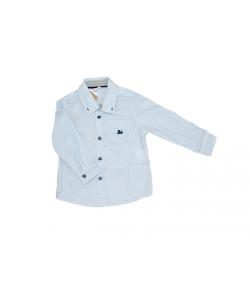 Fehér alapon kék apró kockás ing