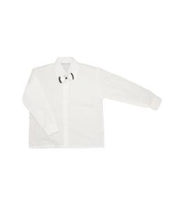 Fehér alkalmi fiú ing levehető csokornyakkendővel 110/116