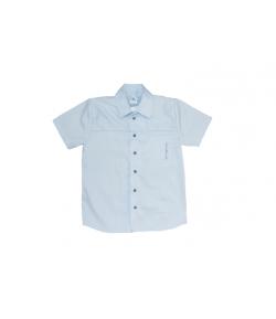 Kék színű, selyemfényű csíkos elegáns ing