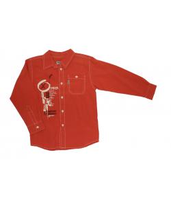 Tégla piros színű vagány ing 122/128-as