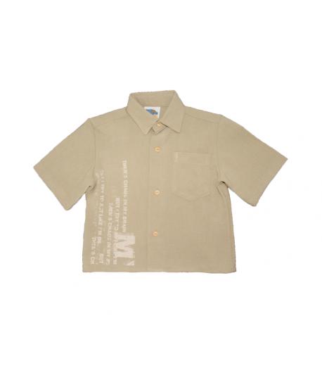 Homok színű fiú ing 98/104-es