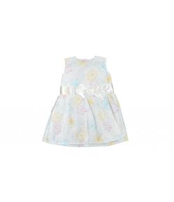 Tavasz színeit kölcsönző alkalmi ruha boleróval és fejpánttal 74-es