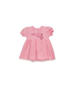 Rózsaszín tüllborítású kislányruha