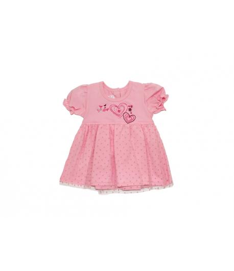 215218a394 Rózsaszín tüllborítású kislányruha
