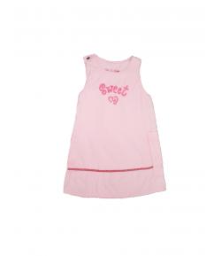 Rózsaszín microcord bársony kötény ruha
