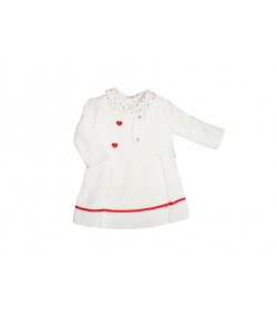 3 részes fehér kislány ruha